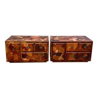 Midcentury American of Martinsville Mosaics Low Dressers - a Pair For Sale