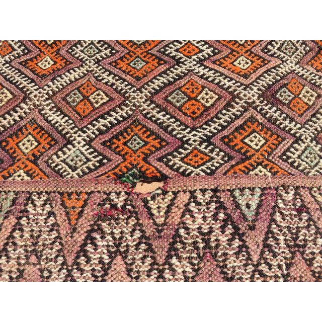 Textile Vintage Moroccan Nomadic African Tribal Rug For Sale - Image 7 of 9