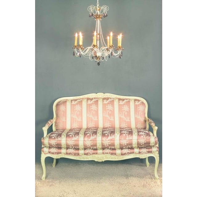 Louis XV Style Settee With Painted Finish - Image 10 of 11