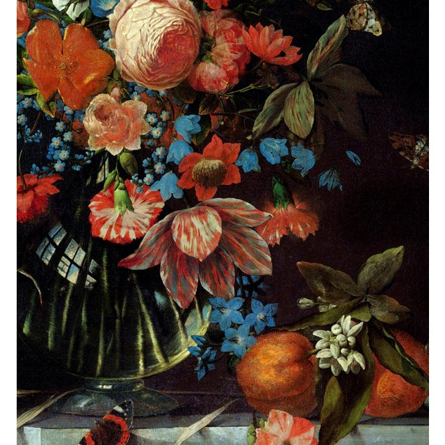 Red Ottmar Elliger Dutch Still Life With Flowers From 1673 Unframed Giclée on Paper For Sale - Image 8 of 8