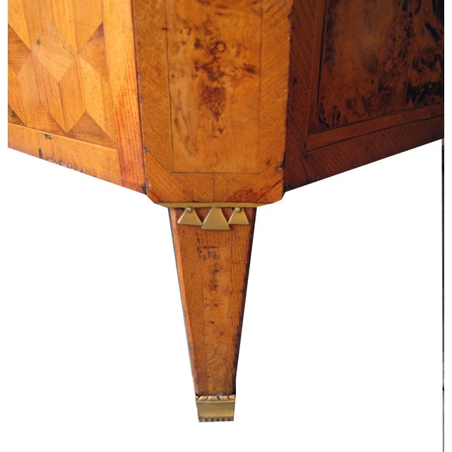 Early 18th Century A Handsome Swedish Gustavian Alder Root Parquetry Chest For Sale - Image 5 of 7