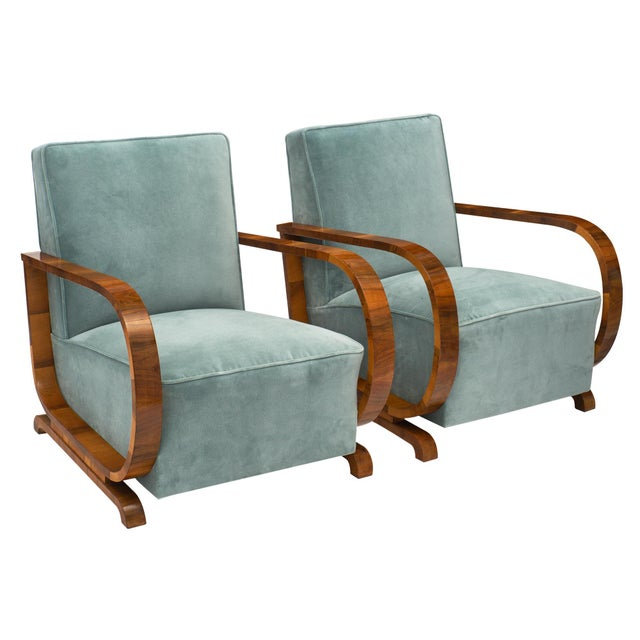 Art Deco Austrian Armchairs For Sale - Image 11 of 11