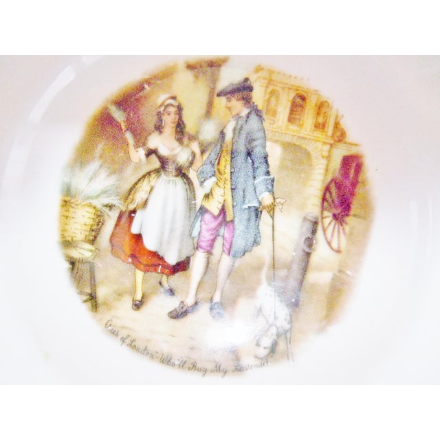 Staffordshire Bone China Plates, England - Set of 3 For Sale - Image 5 of 10