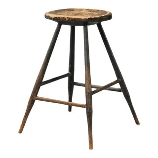 Early 19th Century American Country Windsor Stool or Side Table