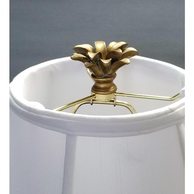 Vintage Parrot and Palm Leaf Ceramic Ginger Jar Table Lamp - Mid Century Organic Modern Boho Chic Tropical Coastal MCM For Sale - Image 10 of 11
