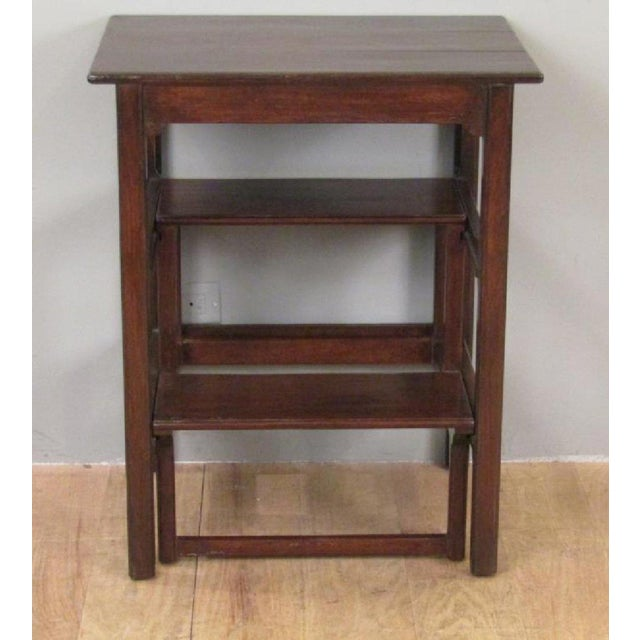 Rose Tarlow mahogany side table with pullout library steps. This piece actually came from Rose Tarlow's Los Angeles home.