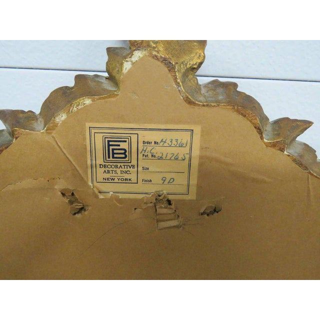 Glass Friedman Brothers Victorian Style Hall Mirror For Sale - Image 7 of 8