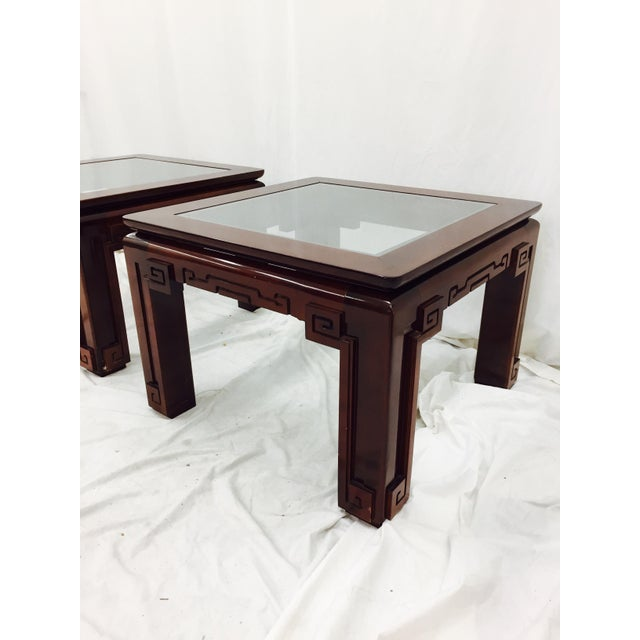 Vintage Asian Ming Style Side Tables - A Pair For Sale - Image 5 of 10