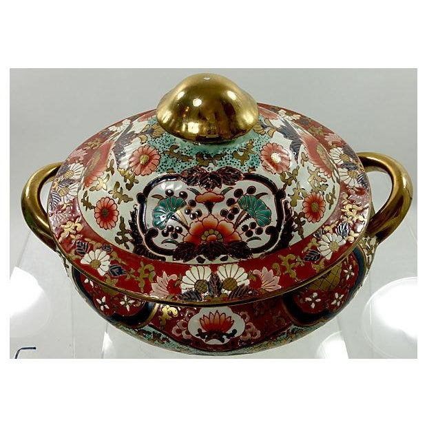 Hand-Painted Decorative Chinese Tureen - Image 5 of 7