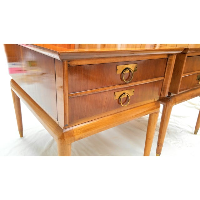 Mid Century Walnut Nightstands - a Pair - Image 3 of 10