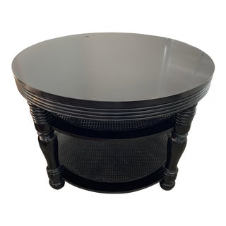 Spanish Black Lacquer Console Table For Sale