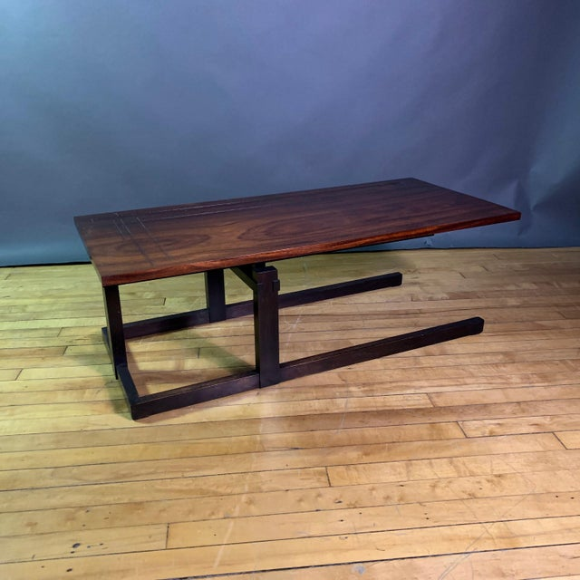 Thomas Swift Studio Teak and Lacquered Coffee Table, Usa 1980s For Sale - Image 10 of 10