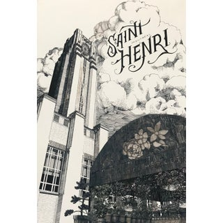2020 Contemporary Montreal Poster - Saint Henri For Sale