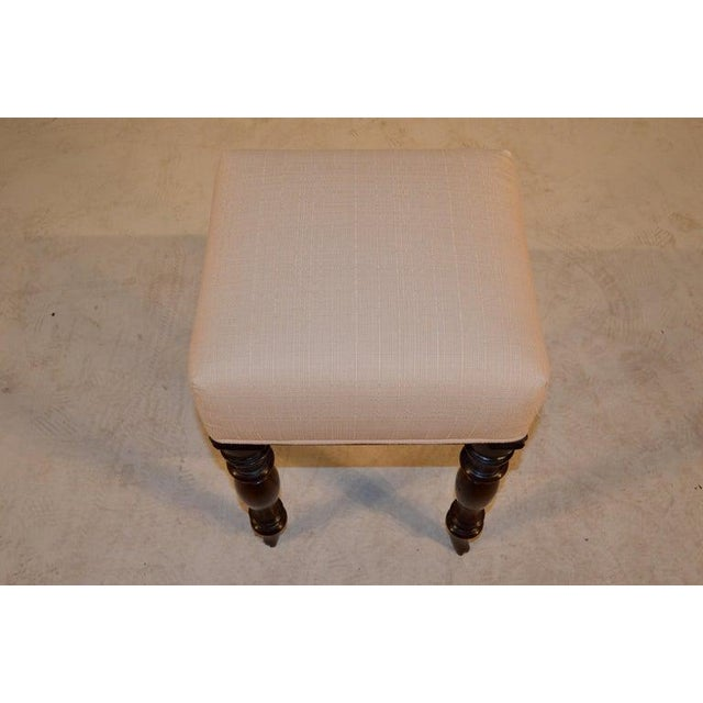 Traditional 19th Century English Mahogany Stool For Sale - Image 3 of 9
