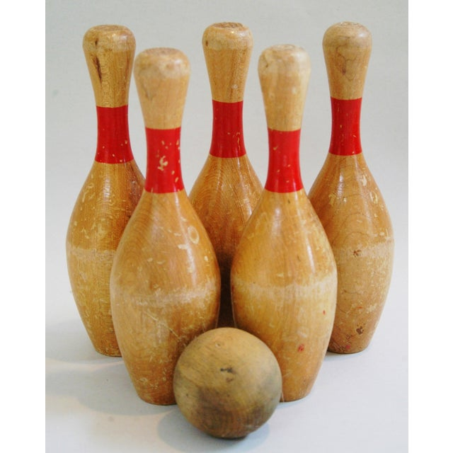 Vintage Child's Bowling Pins & Ball - Set of 6 - Image 2 of 8