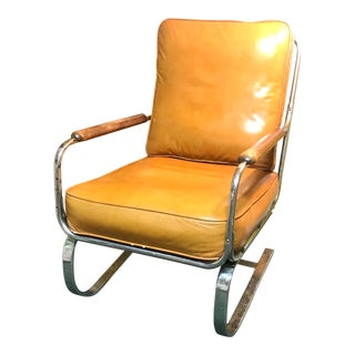 Mid-Century Modern Lloyd Loom Springer Chair For Sale