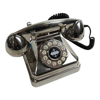 Dutch Art Deco Chrome Crosley Telephone For Sale