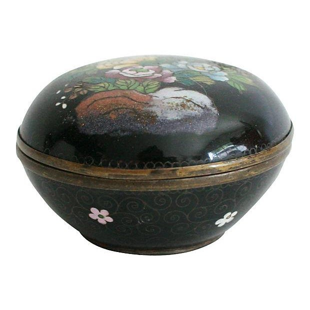 Round Cloisonné Trinket Box - Image 2 of 5