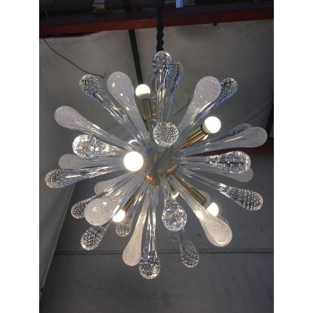 Chandelier Sputnik Brushed Gold Murano Glass For Sale - Image 10 of 11