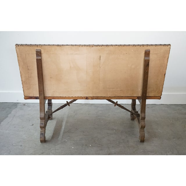 Decorative Leather Bench For Sale - Image 4 of 12
