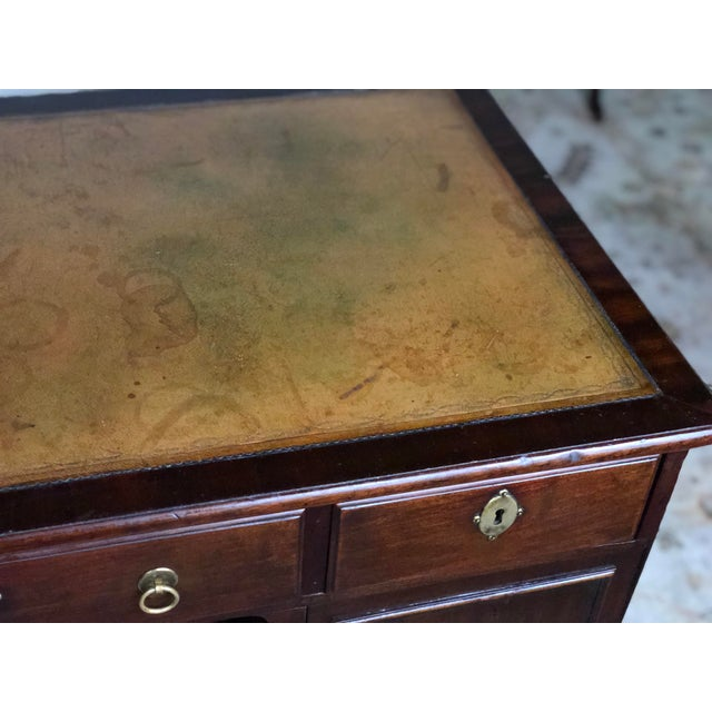 19th Century Regency Kneehole Desk of Mahogany For Sale - Image 10 of 12