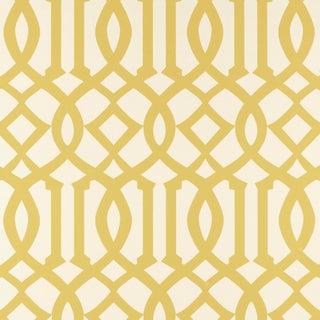 Sample - Schumacher Imperial Trellis Wallpaper in Citrine Preview