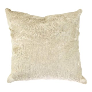 Rare Ivory Cowhide Pillow For Sale