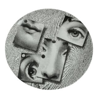 Piero Fornasetti Plate #163 Made in Italy For Sale