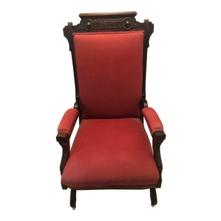 Red Platform Rocking Chair For Sale