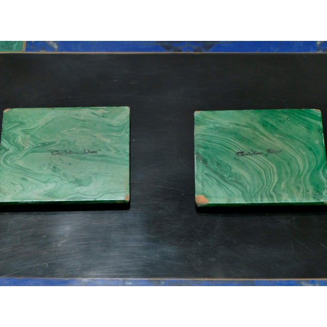 Christian Dior Faux Malachite Folding Tray Table, 1970s For Sale - Image 10 of 11