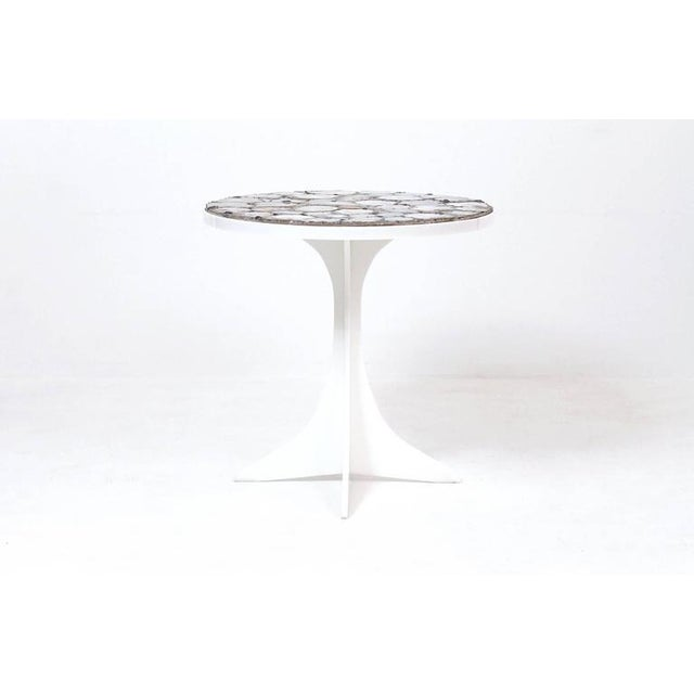 Mid-Century Modern Miriam Rogers Mosaic and Acrylic Table For Sale - Image 3 of 11