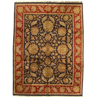 Pasargad Indo Agra Wool Rug - 9′ × 12′ For Sale