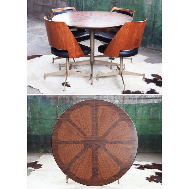 "Mid-Century Modern 1960s Mid Century ""Orange Slice"" Dining Set - 5 Pieces For Sale - Image 3 of 11"