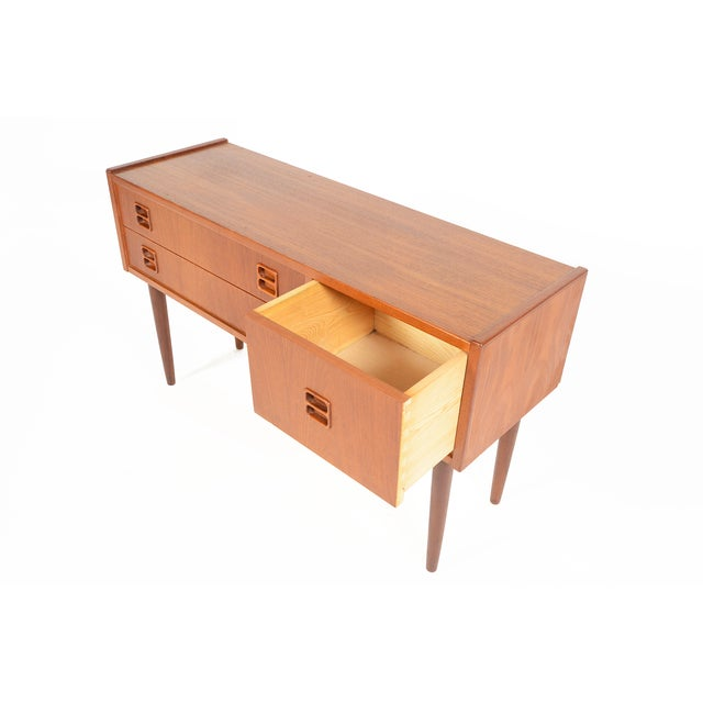 Danish Modern Long Teak Console - Image 5 of 7
