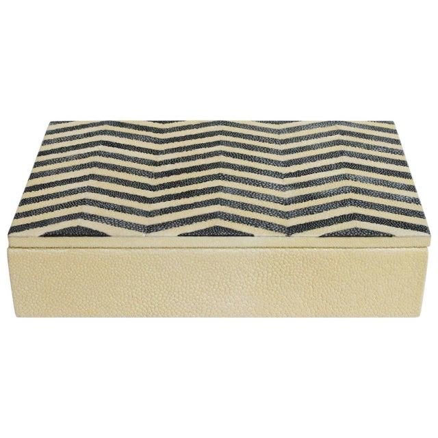 Ivory and Black Shagreen Box by Fabio Ltd For Sale In Palm Springs - Image 6 of 6