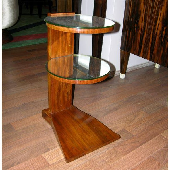 Art Deco Pair of French Art Deco Mirrored Tables by Jules Leleu For Sale - Image 3 of 6
