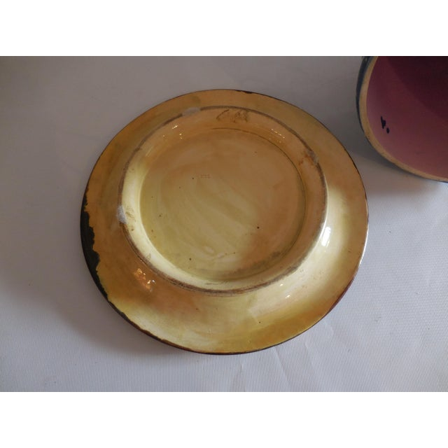 Majolica Ribbon and Leaf Cheese Dome With Underplate For Sale In West Palm - Image 6 of 8