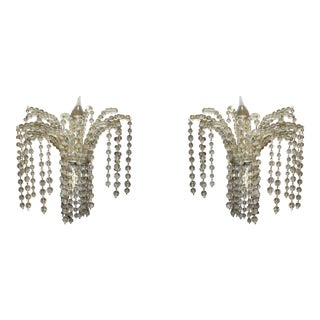 Art Deco Beaded Sconces - A Pair