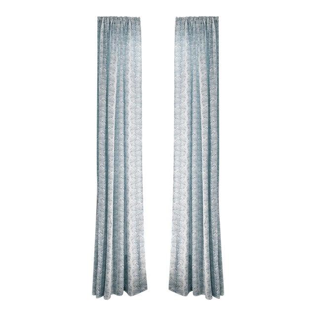 "Pepper Emma Sky 50"" x 108"" Blackout Curtains - 2 Panels For Sale"