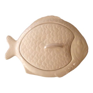 Whimsical Lidded Fish Tureen in the Shape of a Dover Sole. For Sale