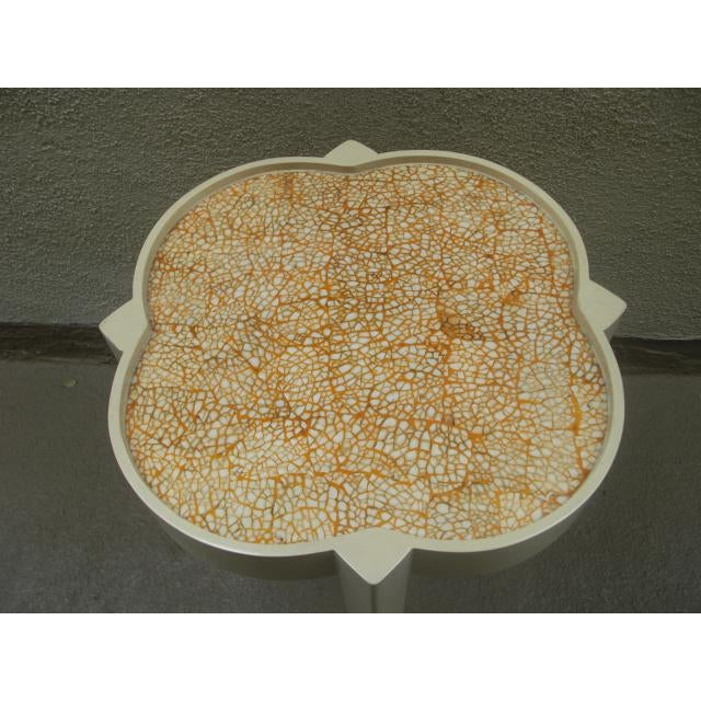 Moroccan Silhouette Painted Mosaic Top Side Table For Sale In Los Angeles - Image 6 of 7