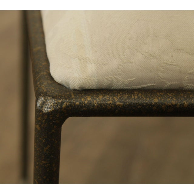 Wrought Iron Hand Painted Flower Back Side Chair For Sale - Image 10 of 13