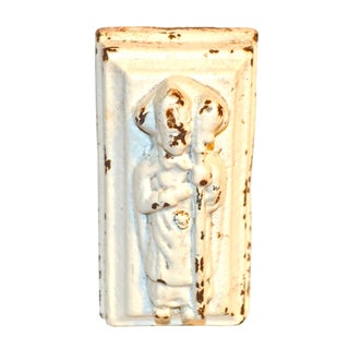 Antique Archbishop Effigy Cast Iron Doorstop