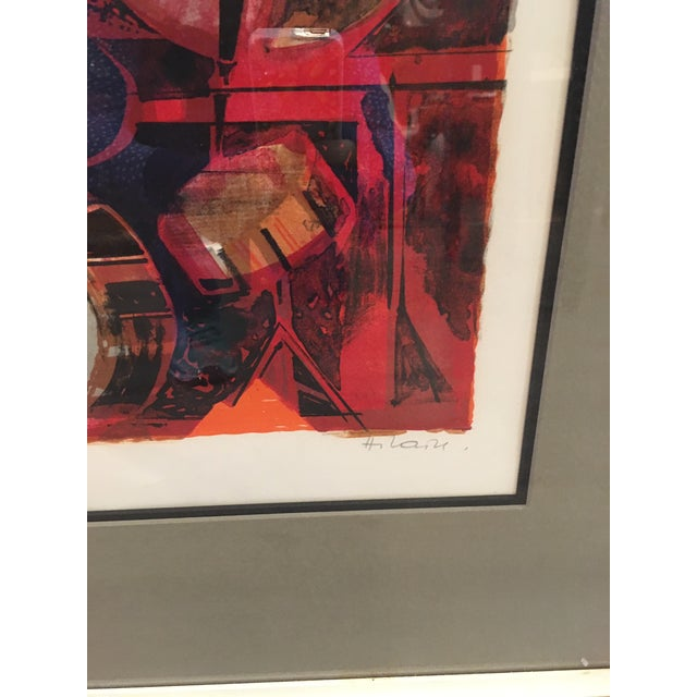 1960s Jazz Players Litho Signed Abstract For Sale - Image 5 of 6