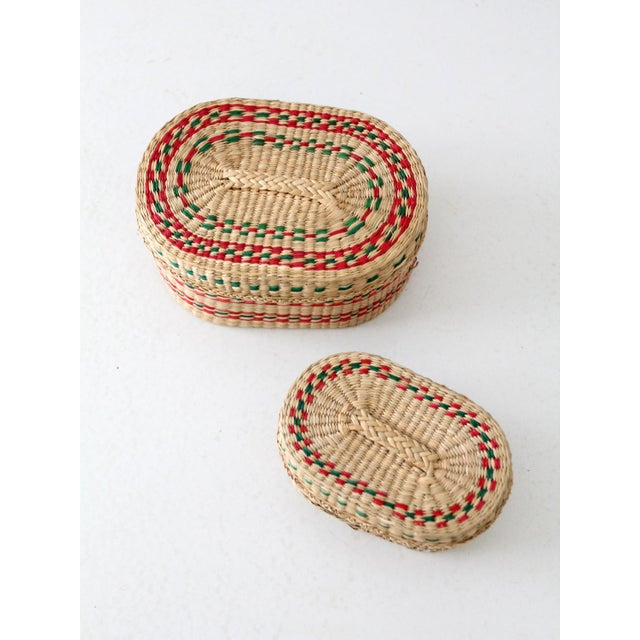Vintage Sweetgrass Baskets - a Pair For Sale - Image 4 of 8