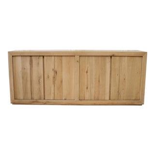Restoration Hardware Russian Oak Panel 4-Door Sideboard For Sale