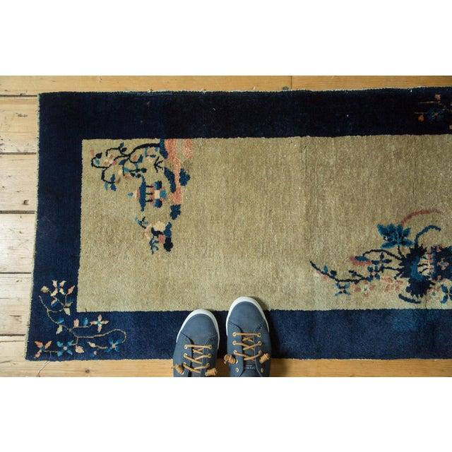 """Vintage Peking Rug Runner - 2' x 3'11"""" - Image 7 of 8"""