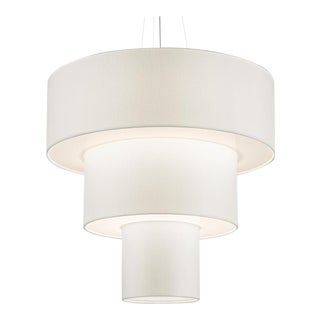 Three Tier Brushed Nickel Pendant Light For Sale