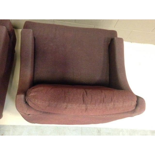 Selig Low Lounge Chairs - A Pair - Image 7 of 7