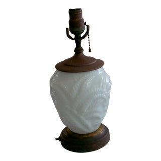 Opalescent Baluster Style Glass Table Lamp For Sale